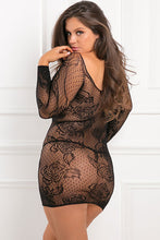 Load image into Gallery viewer, Black With Pleasure Netted Body Stocking Dress