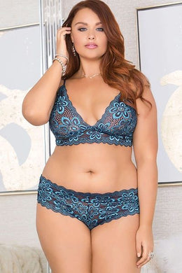 Violets are Blue Bra & Panty Set