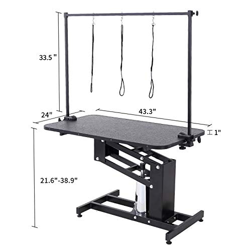 Suncoo Pet Dog Grooming Table Heavy Duty Z Lift Table With