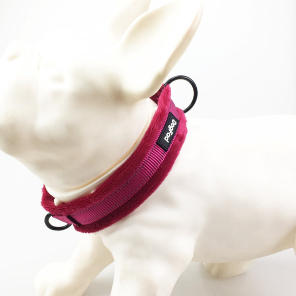 Dog Collars adjustable Soft padded Flannelette Reflective pet Collar For Small medium and large dogs Training Walking