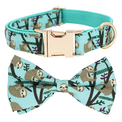 Little Monkey Collar Bow Tie with Metal Buckle for Frenchie