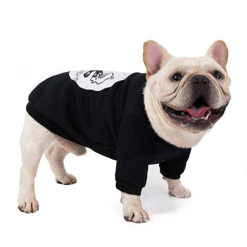 Large Dog Hoodies Coat Pet Dog Clothes French Bulldog Spring Autumn Hoodie Sweatshirt Clothing,Cool T-Shirt for Frenchie GDF73-3