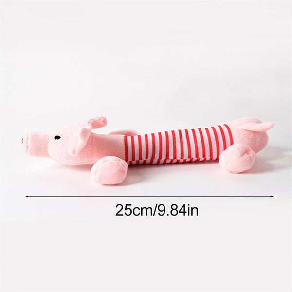 Cute Pet Dog Cat Plush Squeak Sound Dog Toys Funny Fleece Durability Chew Molar Toy Fit for All Pets Elephant Duck Pig