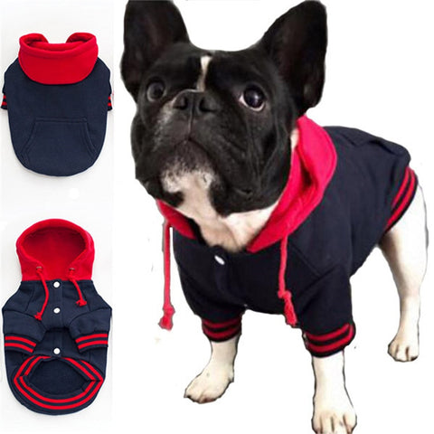 French Bulldog Clothes Dog Hoodies Pet Clothes with Pocket Dog Coat Jackets Cotton Hoodie Sportswear Warm Pet Clothing Costume