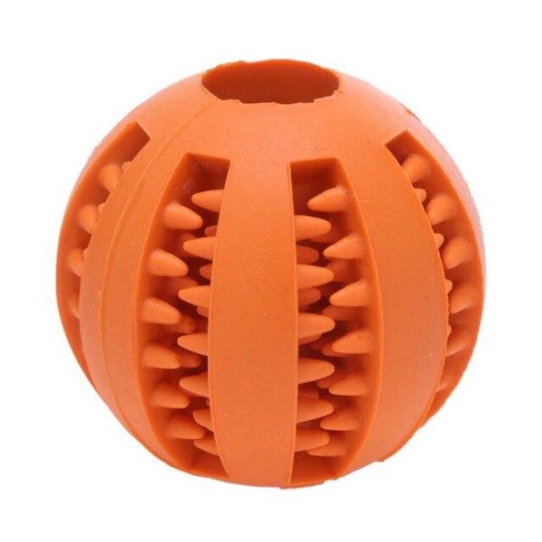 Dog Toy Interactive Rubber Balls Pet Dog Cat Puppy Elasticity Teeth Ball Dog Chew Toys Tooth Cleaning Balls Toys S-Size