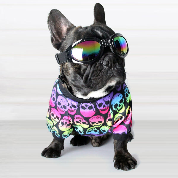 Cotton French Bulldog Skull Print Vest Pet Dog Summer Clothes for Small Dogs Pets Clothing Chihuahua Punk T-shirt Pug Costume