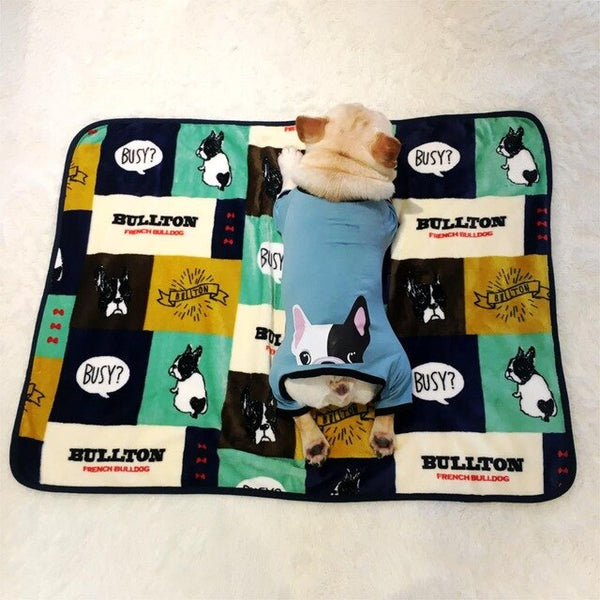 Soft pet dog blanket Fleece French Bulldog Blankets Cat Dog Bed Mat for Dogs Cushion Blanket Puppy Cat Sleeping Covered Mats