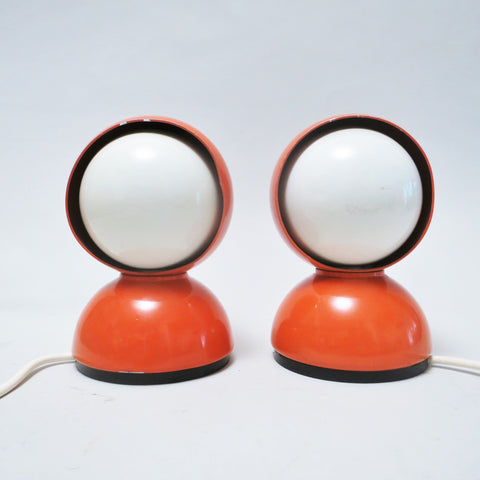 Paire de lampes Eclisse orange Magistretti Artemide