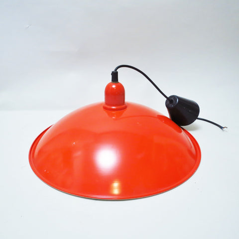 Suspension cloche rouge années 70 80