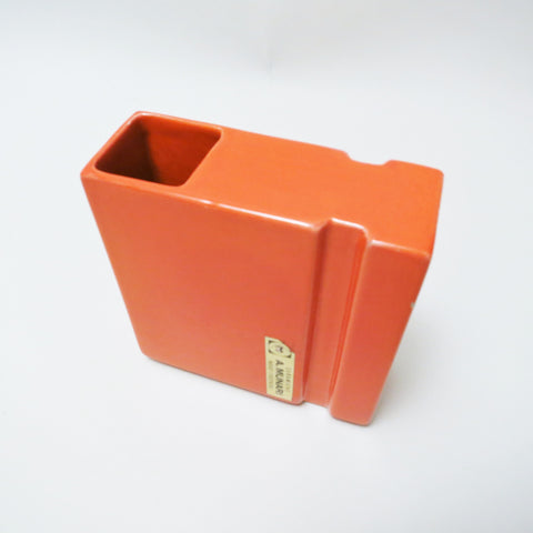 Petit vase en céramique orange A Munari 1970