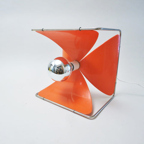 Lampe pétales Rignault orange 1970