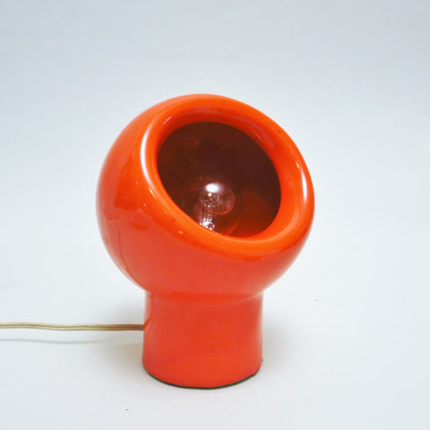 Lampe en céramique orange  Gabbianelli
