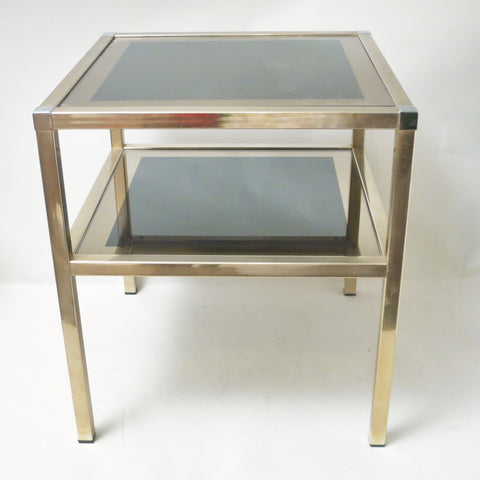 Table d'appoint en metal doré Charly Freres
