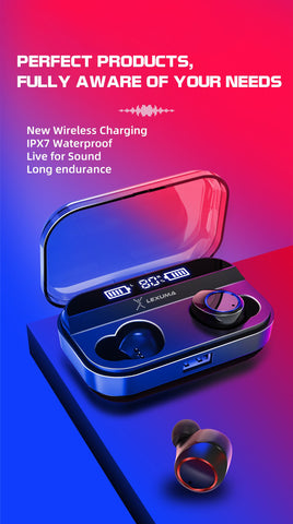 iMartCity Lexuma XBud-Z True Wireless Bluetooth with IPX7 Waterproof Sports Earbuds