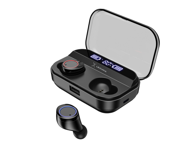 True Wireless Bluetooth 5.0 Earbuds noise cancellation technology imartcity xbud-z microphones estimated unwanted sound