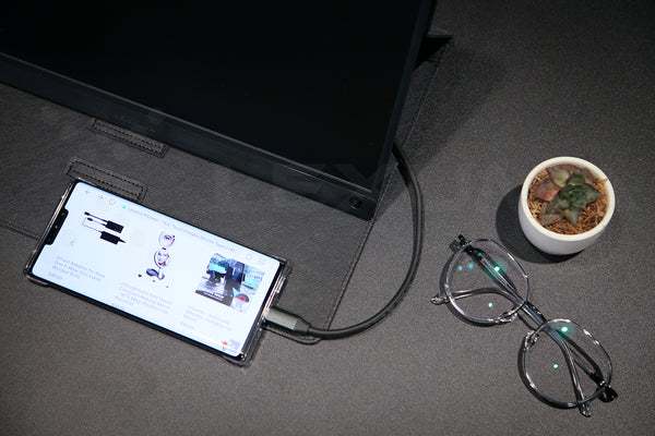 iMartCity Blog Post Lexuma XScreen Portable Monitor with HDMI Type-C connection simple connection for smartphone portable screen
