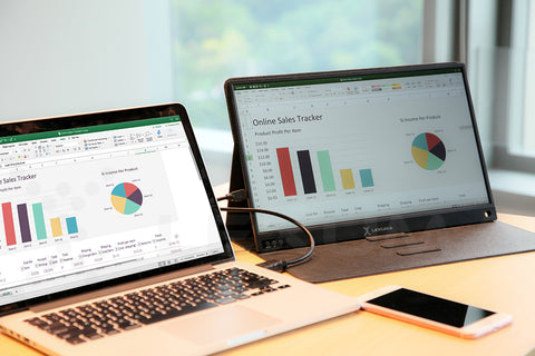 iMartCity Lexuma XScreen Portable Monitor with touch screen advantage for dual monitor setting enhance productivity connect with computer
