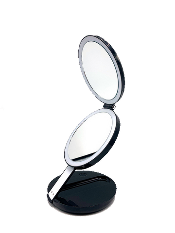LED Lighted 3-fold Travel Compact Makeup Mirror 1X/7X Magnification magnifying mirror standing makeup magnifying bathroom s with lights trifold battery magnifying glass absolutely lush best hand zadro round makeup jerdon makeup reviews natural makeup estala hollywood vanity fancii travel makeup gala 10x magnifying makeup bestmakeup makeup with lights best ratedmakeup anjou makeup kensie vanity vanity with lights tri fold vanity wall mounted makeup - iMartCity