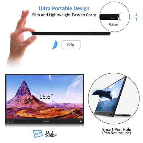 iMartCity-Lexuma-XScreen-Portable-Monitor-Ultra-Slim-HD-1080P-USB-Powered-easy carry