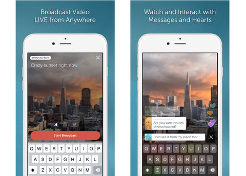 iMartCity live video YoloLiv YoloBox portable Studio blog post live streaming mobile app popular Periscope interface