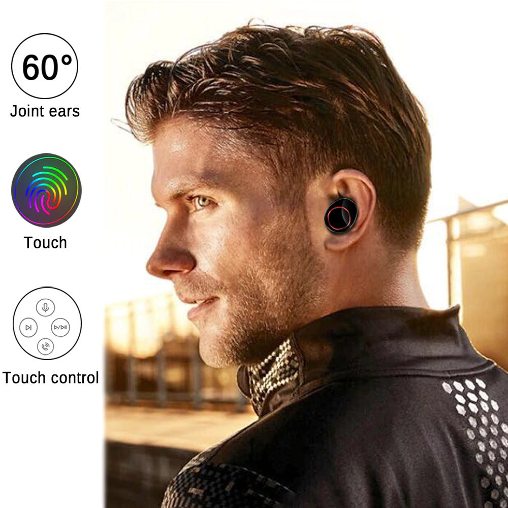 Lexuma Xbud-Z True Wireless stereo In-Ear Bluetooth With Charging Case IPX7 waterproof earbuds for working out running headphones earphones with power bank Water-resistant rechargeable mpow flame AS X2T+ ip8 jbl endurance dive jabra elite 65t ikanzi TWS-X9 x3t x4t tws apa itu tws i12 tozo t10 best wireless earbuds best wireless earbuds for working out in ear design comfortable