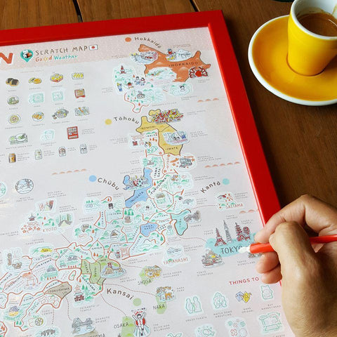 Japan Scratch Travel Map - Travel to Japan - iMartCity