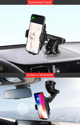 Lexuma Xmount ACM-1009 Automatic Infrared Sensor Qi fast charging Wireless Car Charger Mount for iPhone Xs Samsung S10 E S9 S8 Plus mobile device phone accessories Vehicle phone holder Car Cradles adapter with infrared motion sensor Charging Dock Easy One touch One Tap Auto-Sensor Auto-Clamping Auto-Lock Safety First Cell Phone Car Air Vent Holder Safety on road 4 Dash Smartphone dashboard All-in-one Universal Adjustable Car Mount - iMartCity