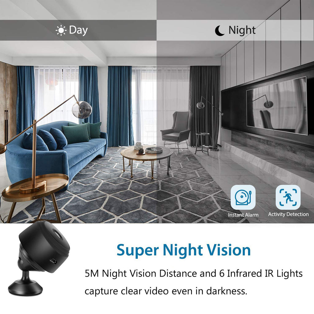 SEC-C120 Mini 1080P FHD Wireless Night Vision Home Security Camera with 150° Wide-Angle Lens wifi connection for mobile phone hidden outdoor invisible Smart HD IP cam ime2s remote cheap surveillance cameras for home nanny Tiny Covert Cam small axis f1004 cookycam 360 ip camera ismartview ARW-BAT CCTV 網絡監控攝影機 - iMartCity