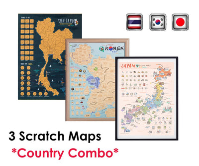 Small Maps Bundle (Korea, Thailand, Japan) - GadgetiCloud