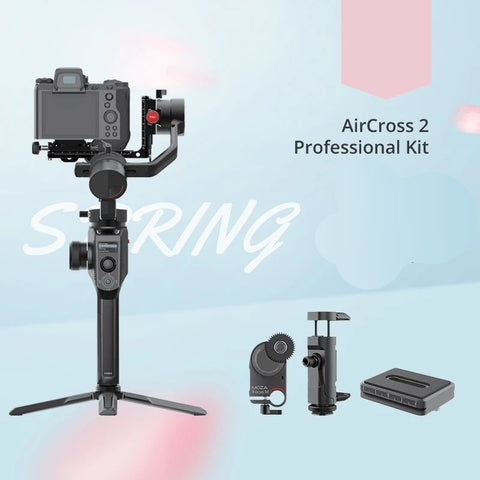 MOZA AirCross 2 Professional Camera Stabilizer beyond your imagination white color front black with professional kit