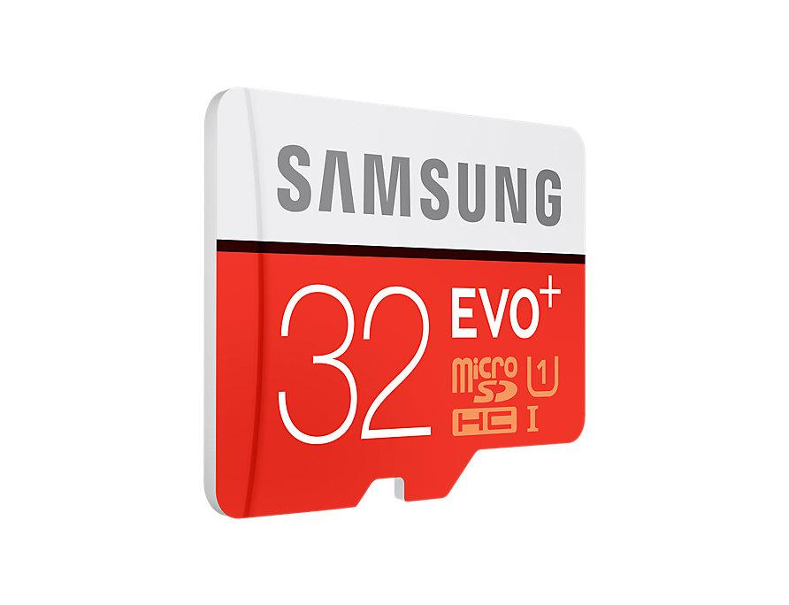 Samsung 32GB microSD EVO+ FHD Memory Card with adaptor - GadgetiCloud