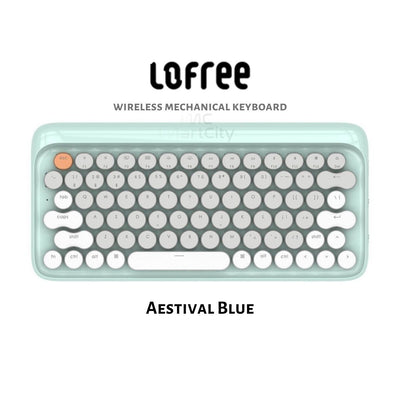 iMartCity - Aestival Blue Lofree Wireless Mac Mechanical Keyboard Aestival Blue Wireless Mac DOT Bluetooth Mechanical mini keyboard retro style Steampunk Vintage Typewriter azio unicomp ultra classic penna keyboard