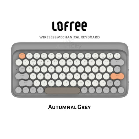 MartCity - Autumnal Grey Lofree Wireless Mac Mechanical Keyboard Aestival Blue Wireless Mac DOT Bluetooth Mechanical mini keyboard retro style Steampunk Vintage Typewriter azio unicomp ultra classic penna keyboard special color macbook keyboard