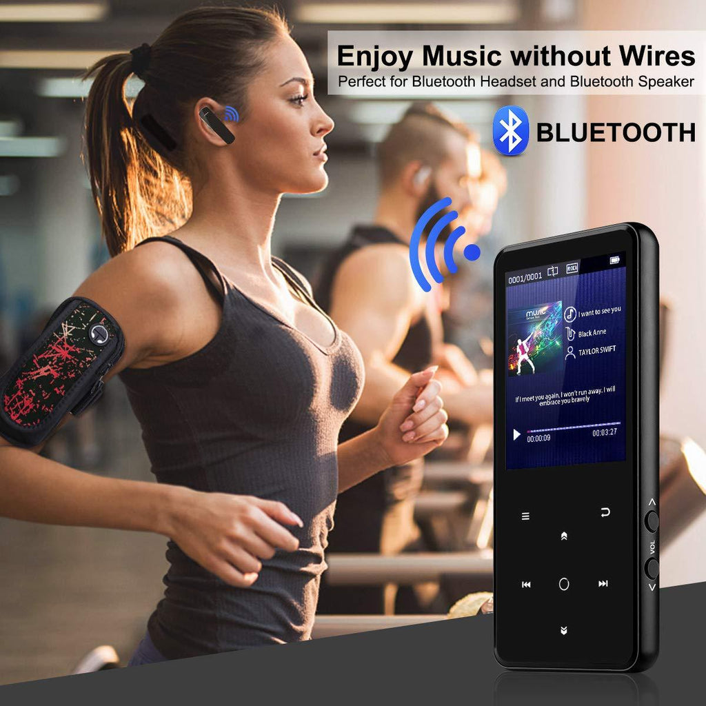 "Portable Bluetooth MP3 Player with 2.4"" Large Screen - iMartCity mp3 lossless player fm radio voice recorder bluetooth music player mp3 walkman bluetooth audio player sports use"