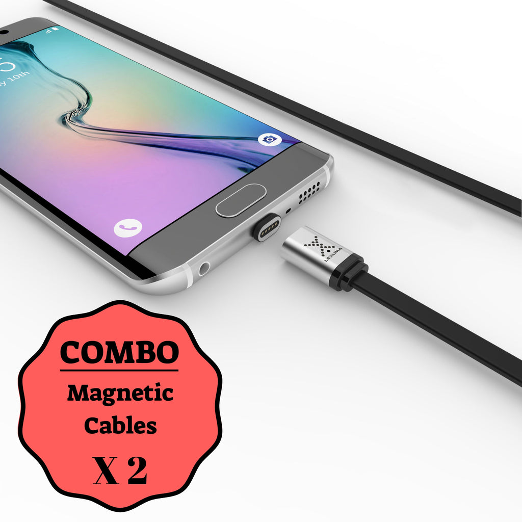 lexuma xmag magnetic charging cables for android devices combo