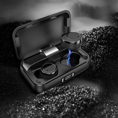 iMartCity Lexuma Xbud-X true wireless in-ear earbuds wireless earphones headphones bluetooth 5 charging case ultra large battery capacity Bluetooth 5.0 辣數碼 真無線藍牙耳機 連充電盒 with solid background