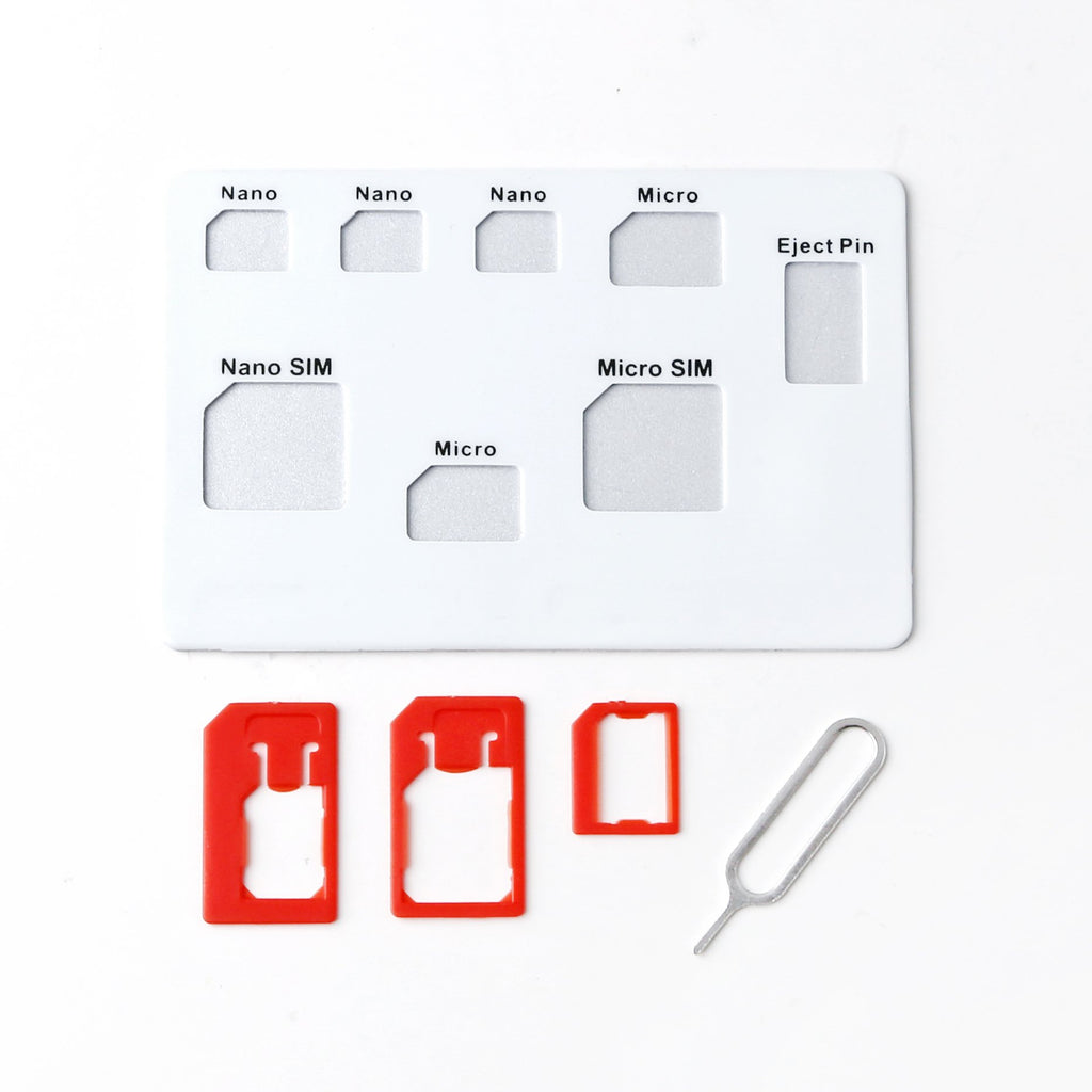 Sim Card Kit - Card Size (White) - iMartCity