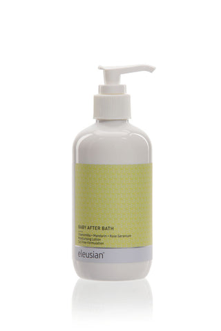 baby after bath - skin lotion