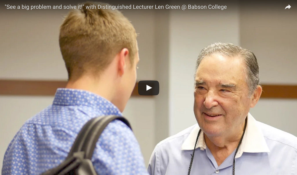 """See a Big Problem and Solve It!"" – Video Production for Distinguished Lecturer Len Green, Babson College /  GCSEN"