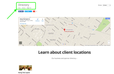 Client directory (beta)