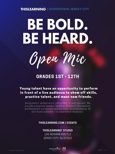 Open Mic – Be Bold. Be Heard.