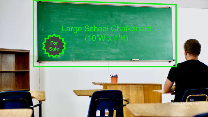 Large (10'W x 4'H) School Chalkboard For Sale