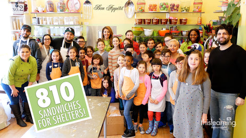 Sandwiches For Shelters w/ Bambino Chef