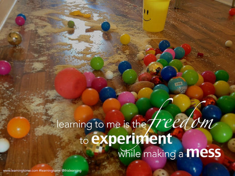 We experimented by making a mess