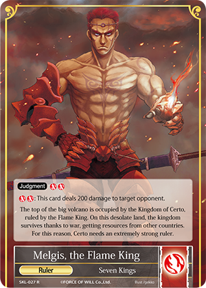 Melgis, the Flame King // Melgis, the One Charmed by the Demon Sword / Near Mint / Foil