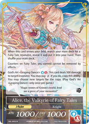 Alice, the Girl in the Looking Glass // Alice, the Valkyrie of Fairy Tales (Full Art) / Near Mint / Foil