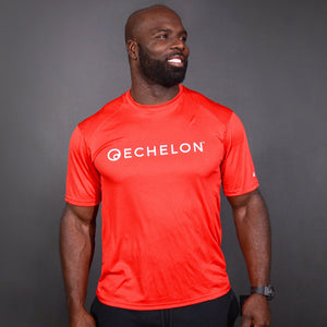 Echelon - Red Sports Tee Shirt + Echelon - Black Sports Tank Top