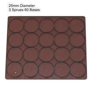 25mm Diameter Brown Bases