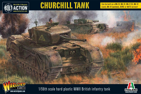 Plastic British Churchill Mk VII heavy tank