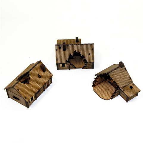 15mm Damaged Log Village